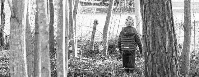 Child in woods