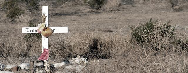 Roadside grave marker